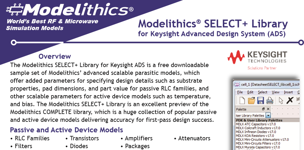 Modelithics Keysight ADS MVP Model Listing - Modelithics, Inc