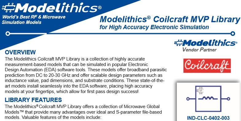 Modelithics Coilcraft MVP Model Listing - Modelithics, Inc